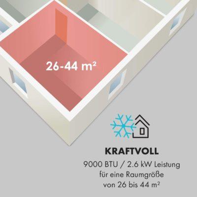 Klarstein New Breeze 7 - Raumgröße